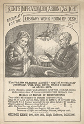 Advert For Kent's Albo Carbon Gas Light